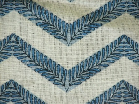 FILIGREE CHEVRON- blue CLOSEUP